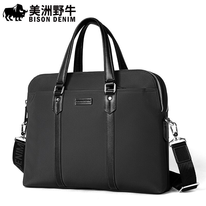 Bison Denim Men Briefcase With Shoulder Strap