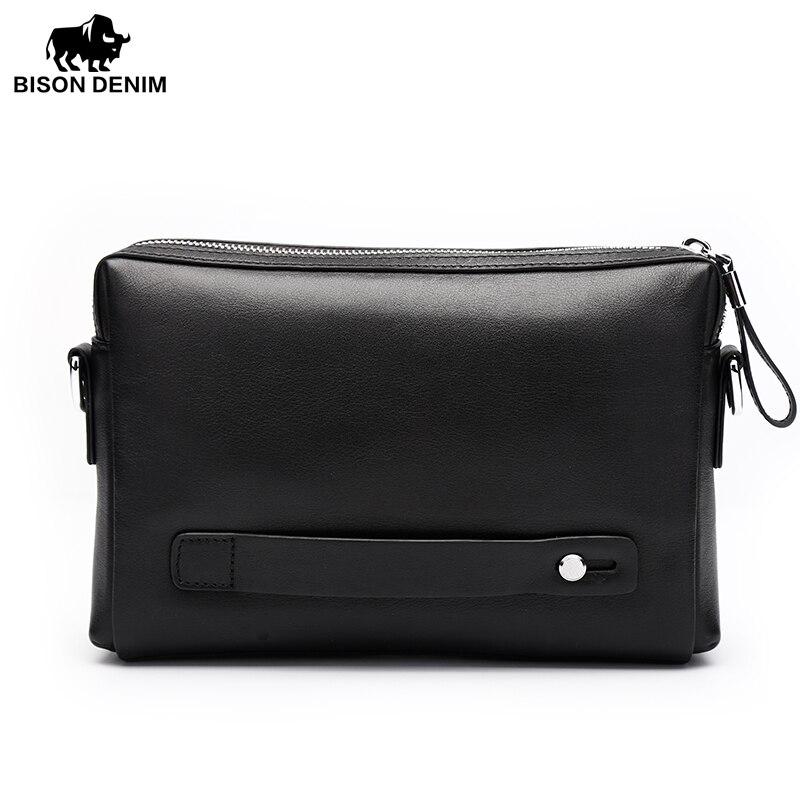 Bison Denim Men Genuine Leather Business Bag
