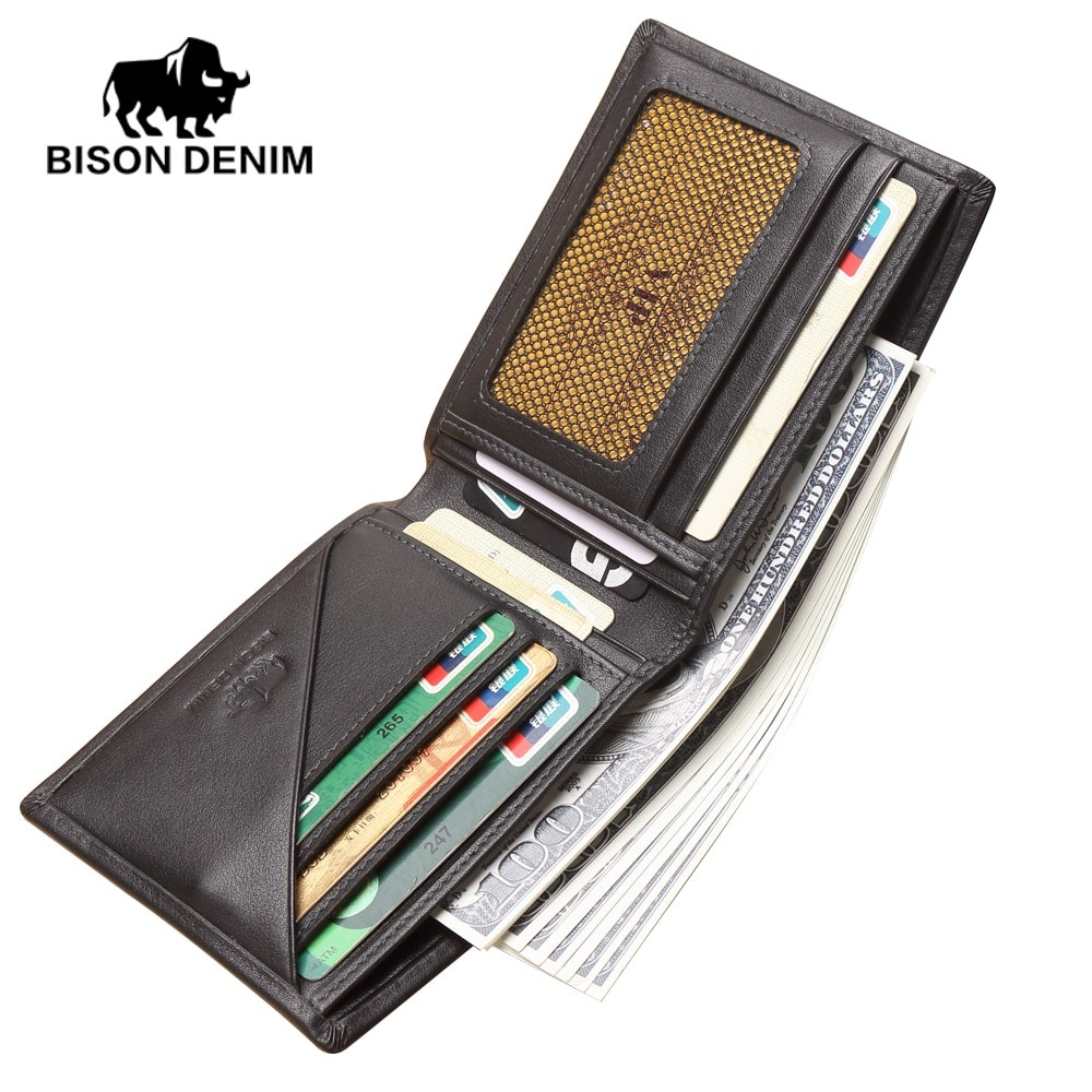 Bison Denim Men Bifold ID Card Holder