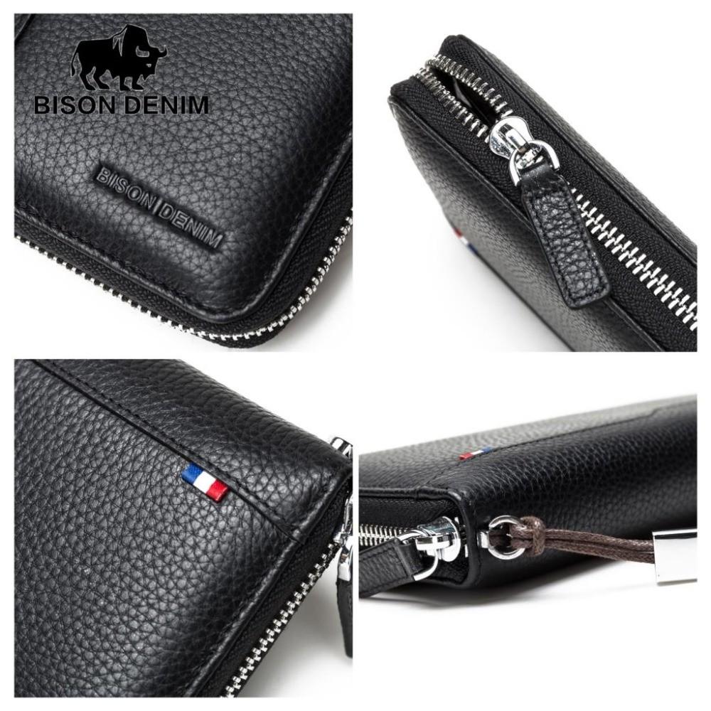 Bison Denim Men Genuine Leather Large Wallet