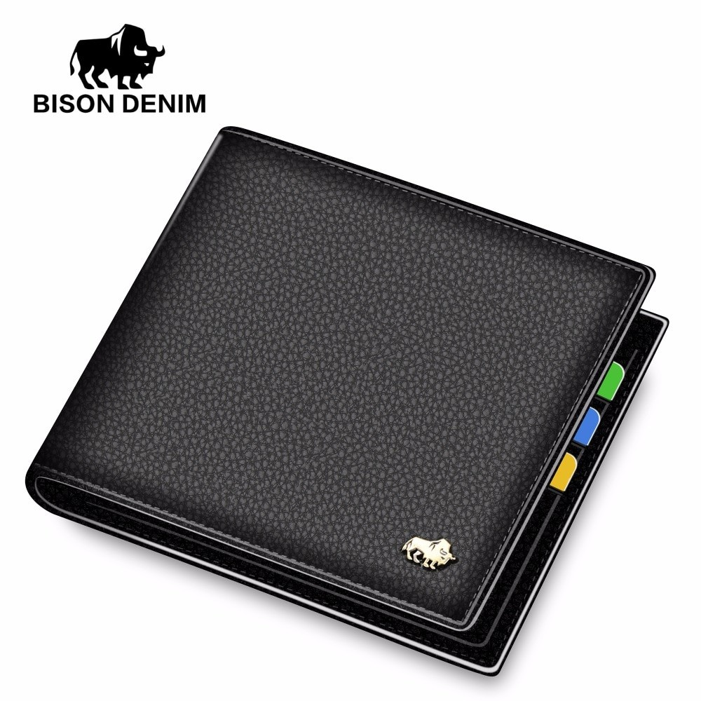 Bison Denim Men Genuine Leather Business Wallet