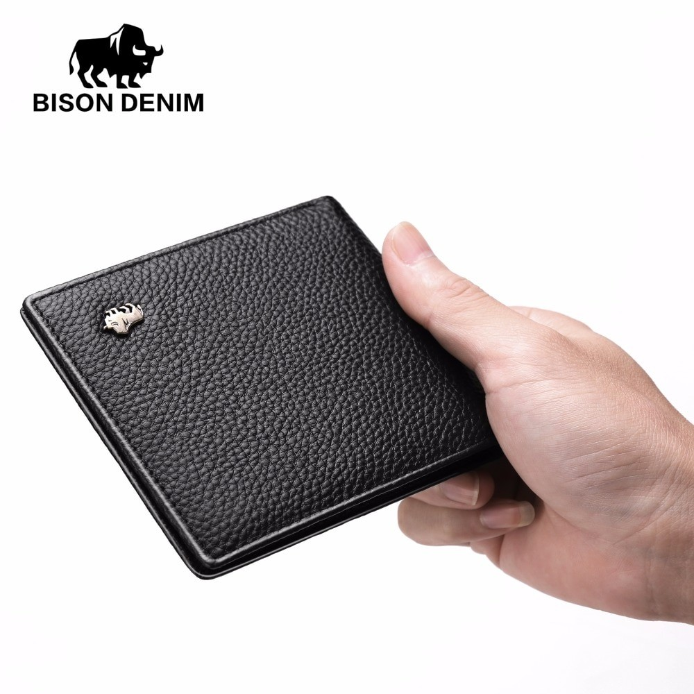 Bison Denim Men Genuine Leather Business Wallet