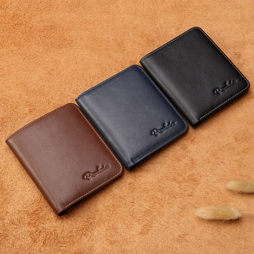 Bison Denim Men Black Thin Wallet