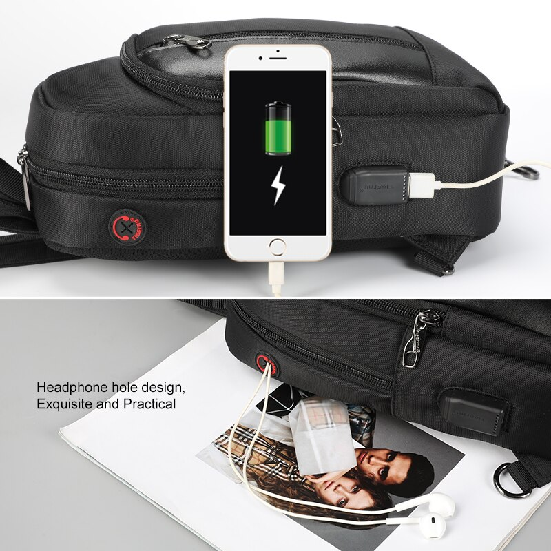 Tigernu Unisex Multi-functional Backpack with Headphone Port
