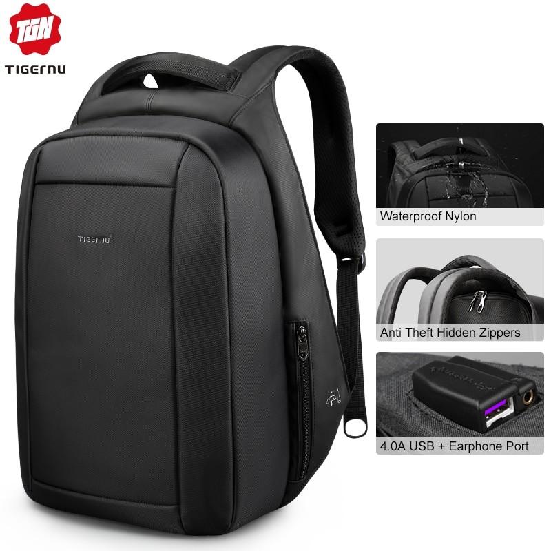 Tigernu Men Splashproof Anti Theft Backpack
