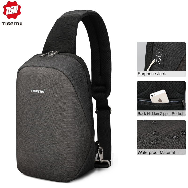 Tigernu Men Casual Anti theft Crossbody Bag