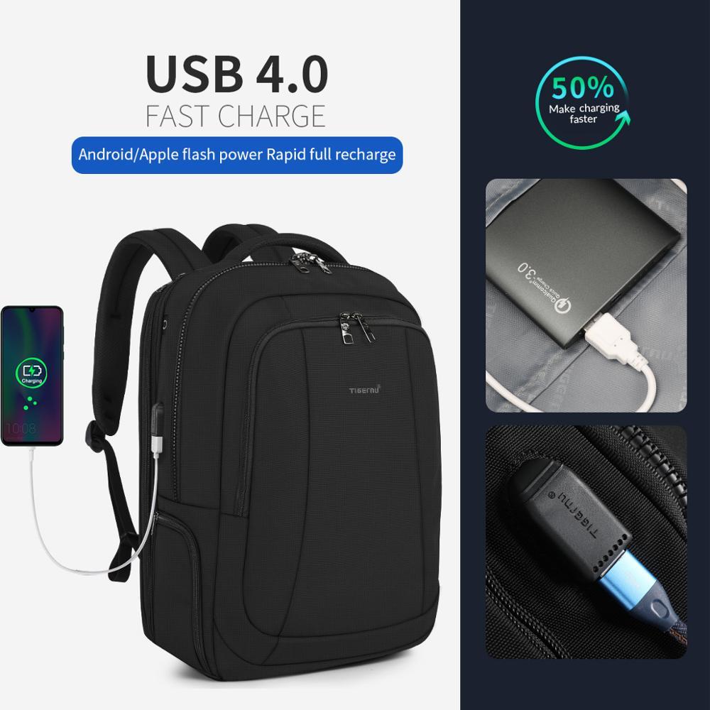 Tigernu Men Laptop USB Charging Backpack