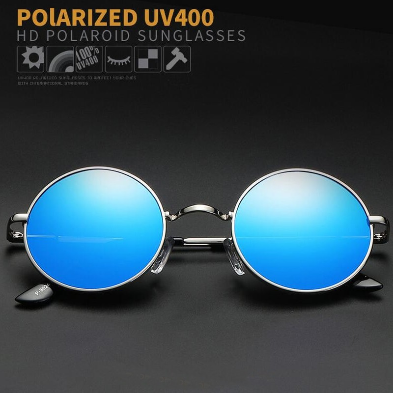 Women Polarized Round Vintage Sunglasses
