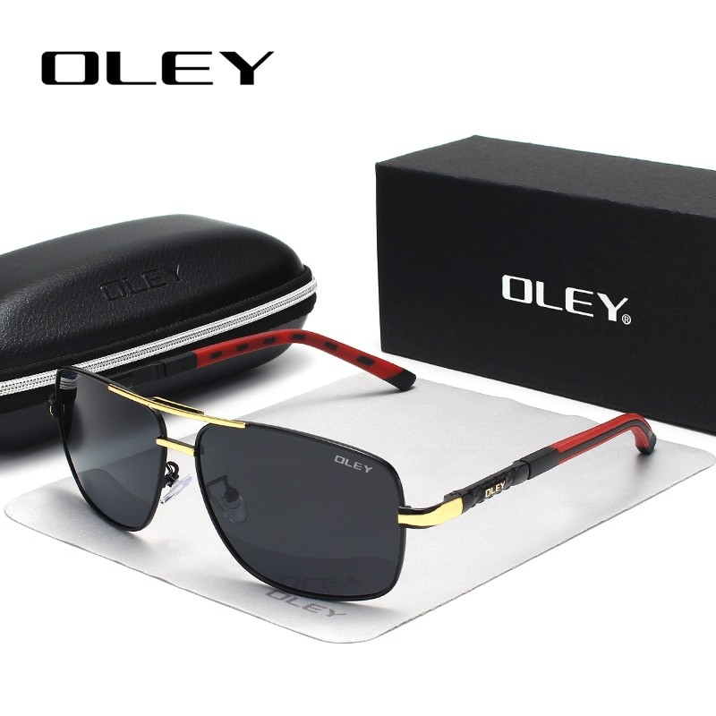 OLEY Men Vintage Polarized Sunglasses