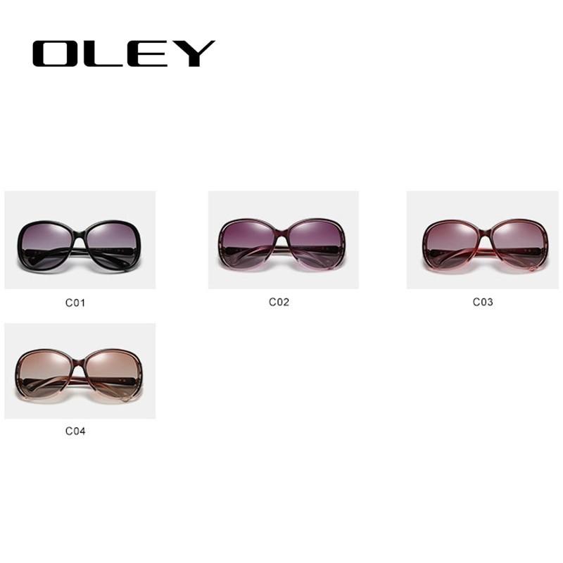 OLEY Women Polarized Fashion Butterfly Sunglasses