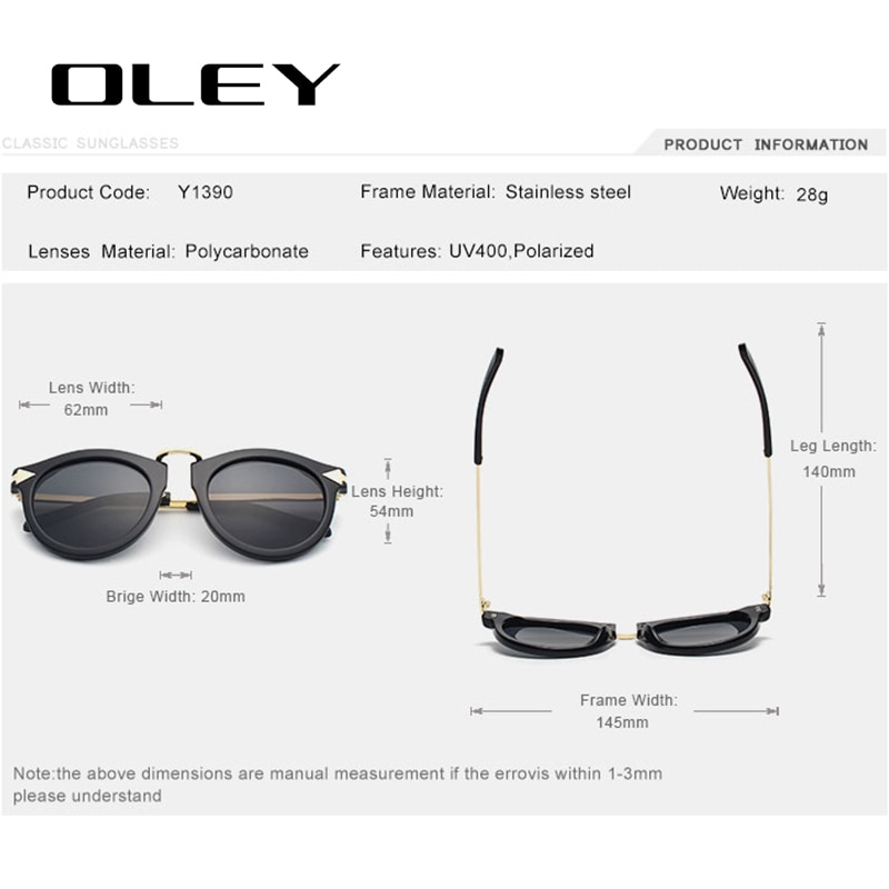 OLEY Women Classic Polarized Sunglasses