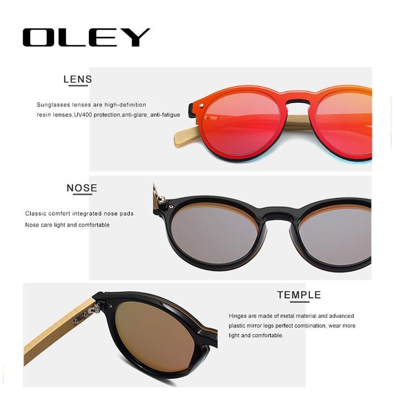 OLEY Classic Round Retro Sunglasses