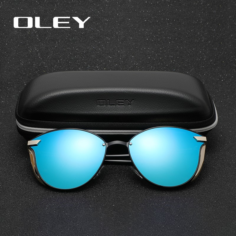 OLEY Women Polarized Fashion Cat Eye Sunglasses