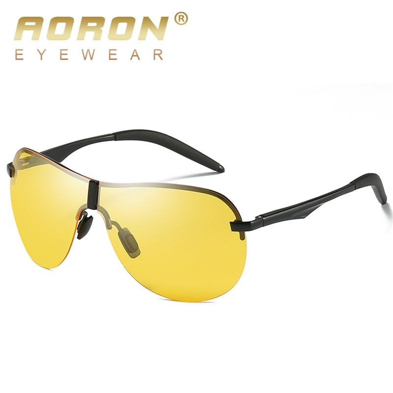 AORON Men Sunglasses Polarized Night Vision Glasses
