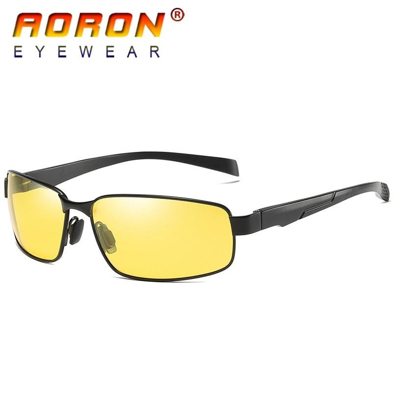 AORON Men Vintage Polarized UV400 Square Sunglasses