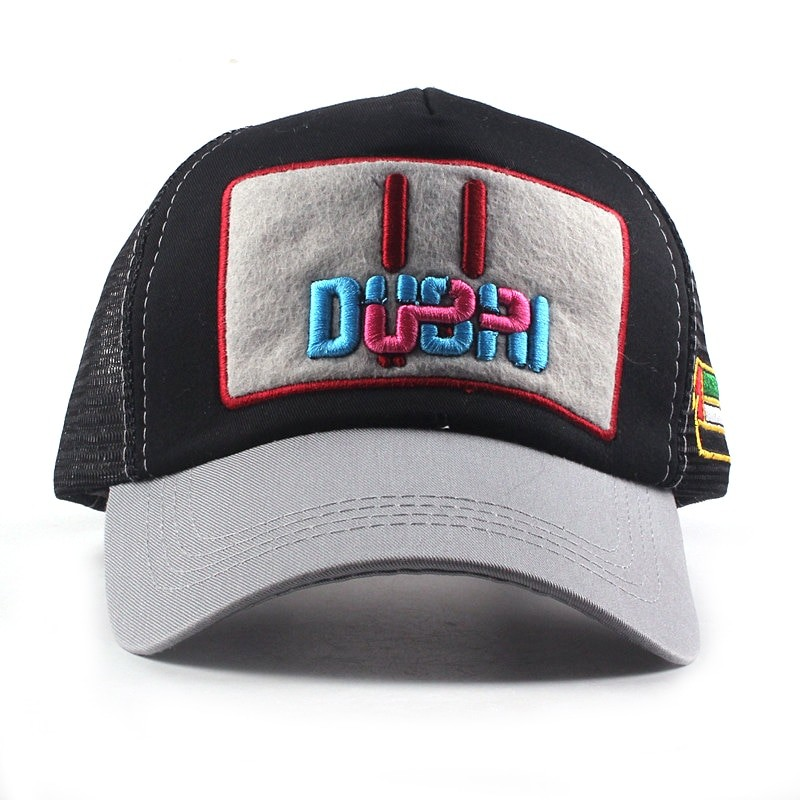 Xthree Unisex Mesh Dubai Embroidery Baseball Cap