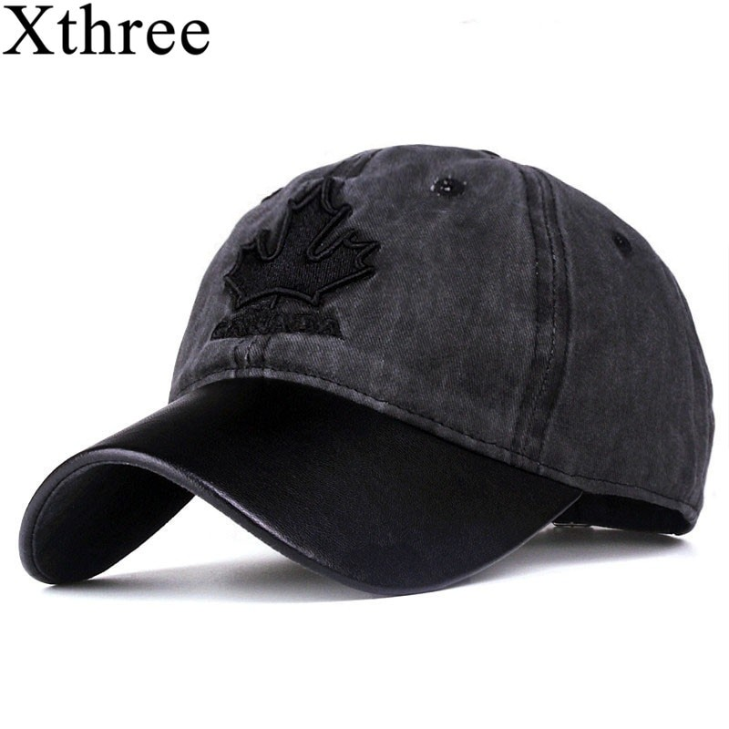 Xthree Unisex Canada Embroidery Cap