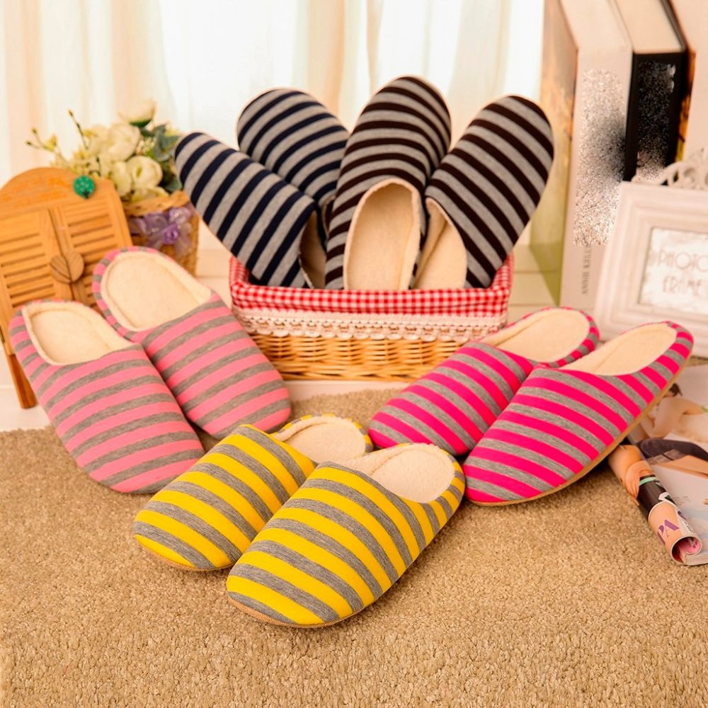Women Warm Home Plush Soft Slippers
