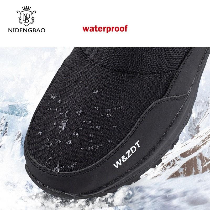 Nidengbao Men Winter High Outdoor Boots