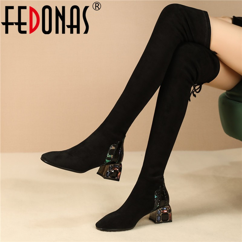 Fedonas Female Rhinestone Party Shoes