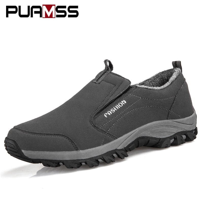 Puamss Men Winter Outdoor Shoes