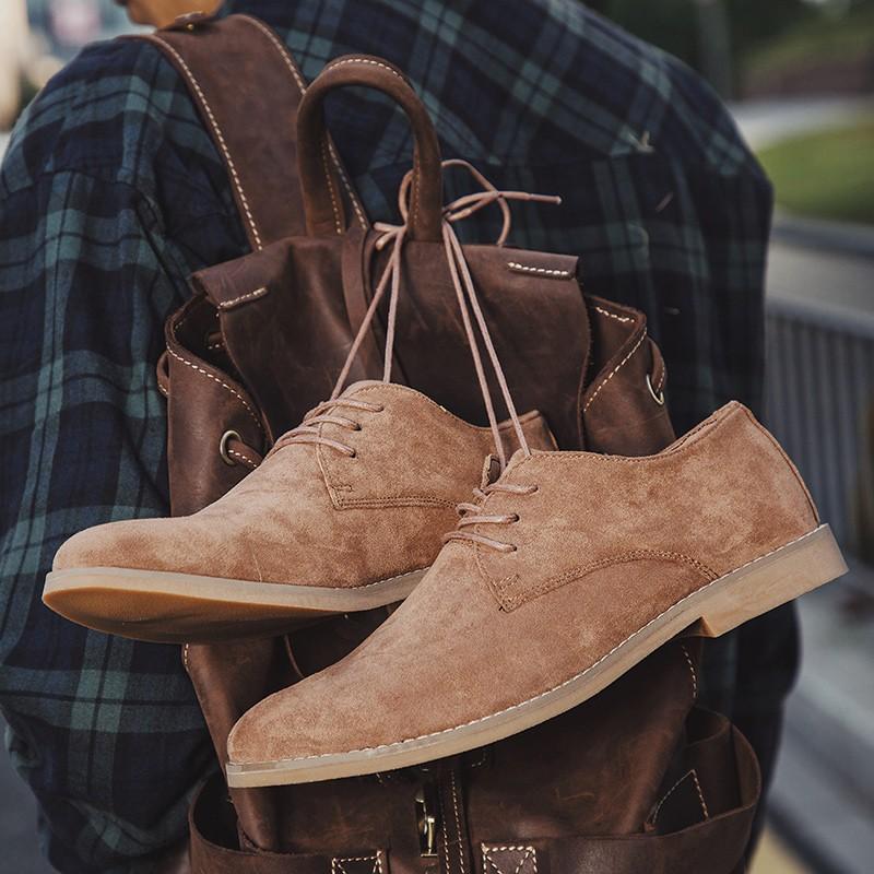 Men English Trend Suede Shoes