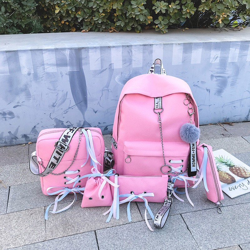 Girls 5 Set of School Bag