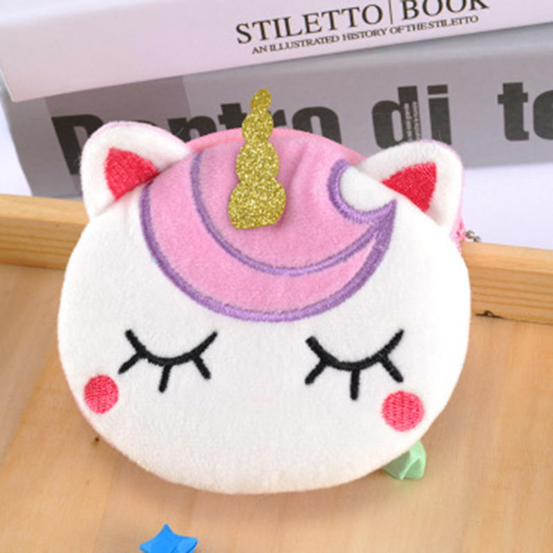 Girls Unicorn Cartoon Pattern Coin Bag