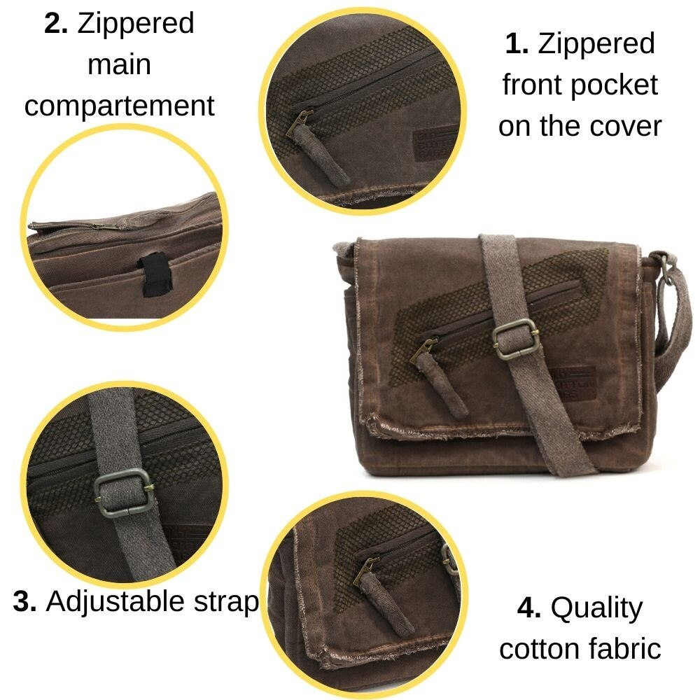 Old Cotton Cargo Unisex Vintage Shoulder Bag