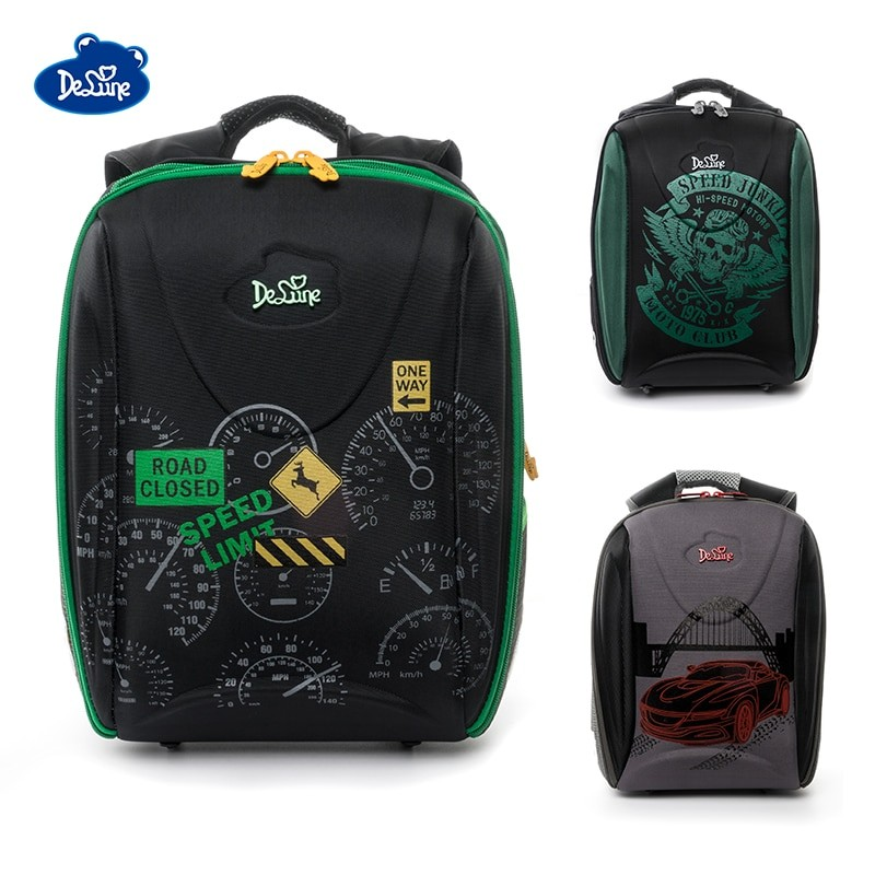 Delune Kids Green School Bag