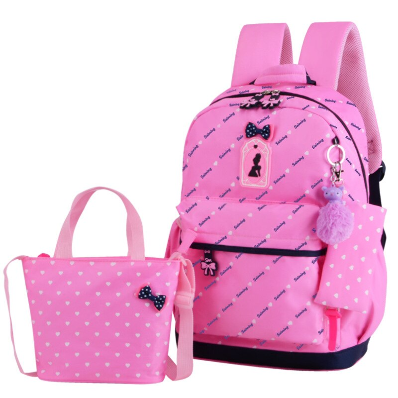 Kids 3 Sets of Orthopedic Primary School Bag