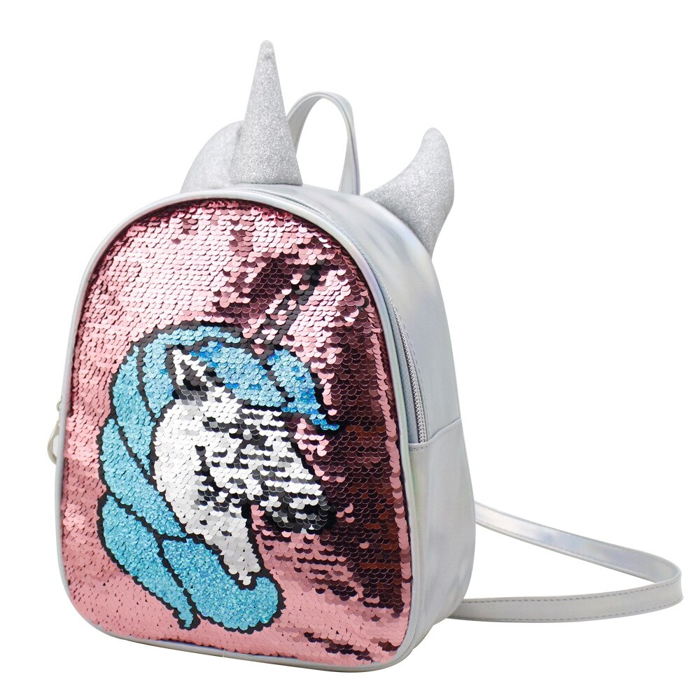 Unicorn Sequins Kids School Bag