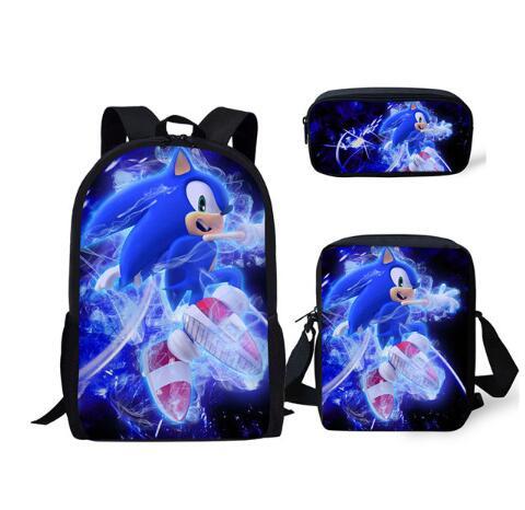 Sonic The Hedgehog Pattern Kids School Bag