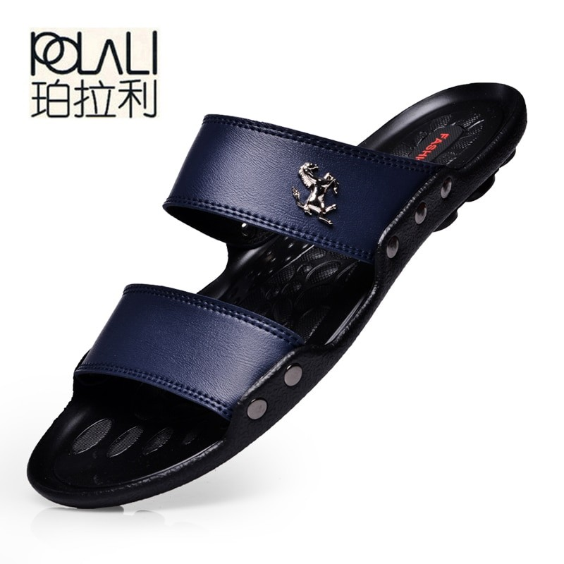 Polali Men Leather Casual Sandals