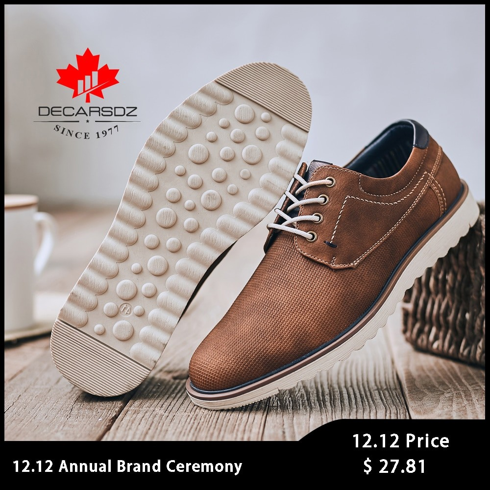 Decarsdz Men Leather Casual Shoes