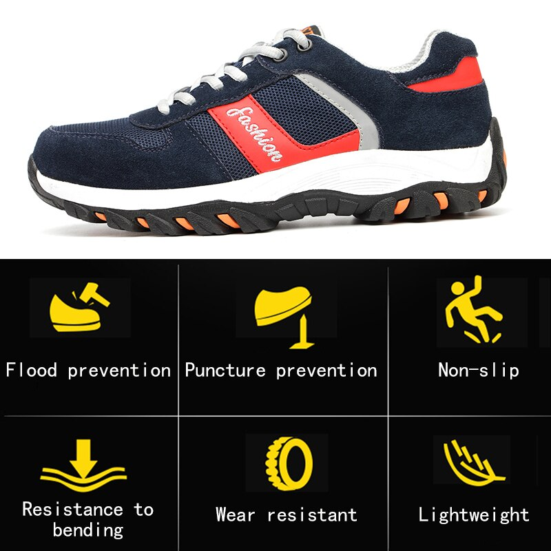 Nasonberg Men Puncture Proof Safety Shoes