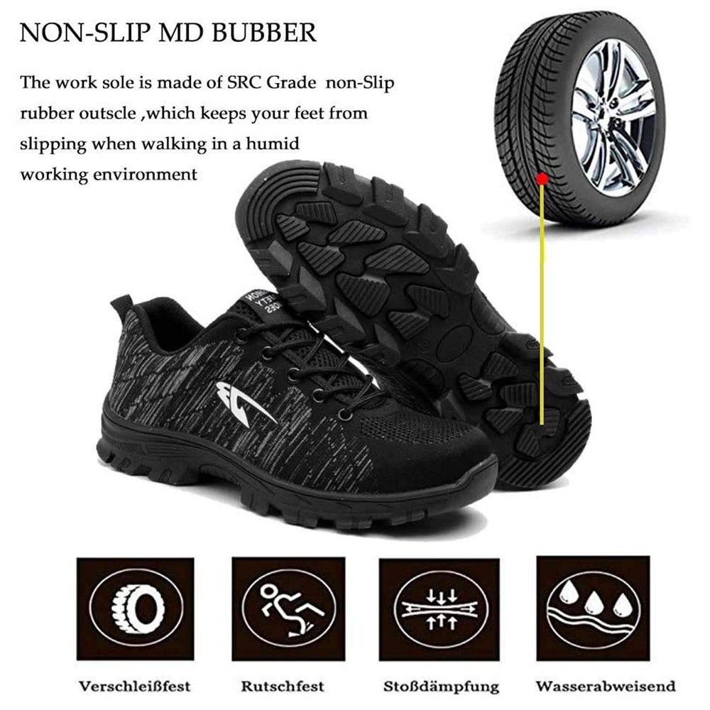 SITAILE Men Puncture-Proof Safety Shoes