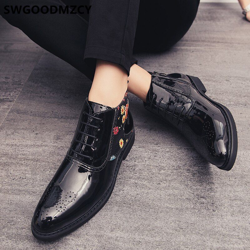 Swgoodmzcy Men Leather Ankle Boots
