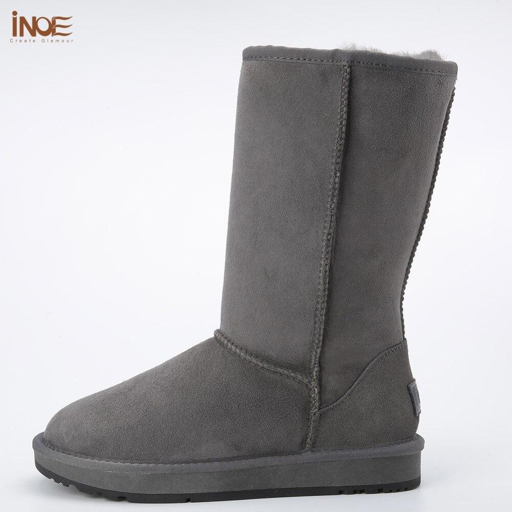 INOE Men leather Winter Snow boots