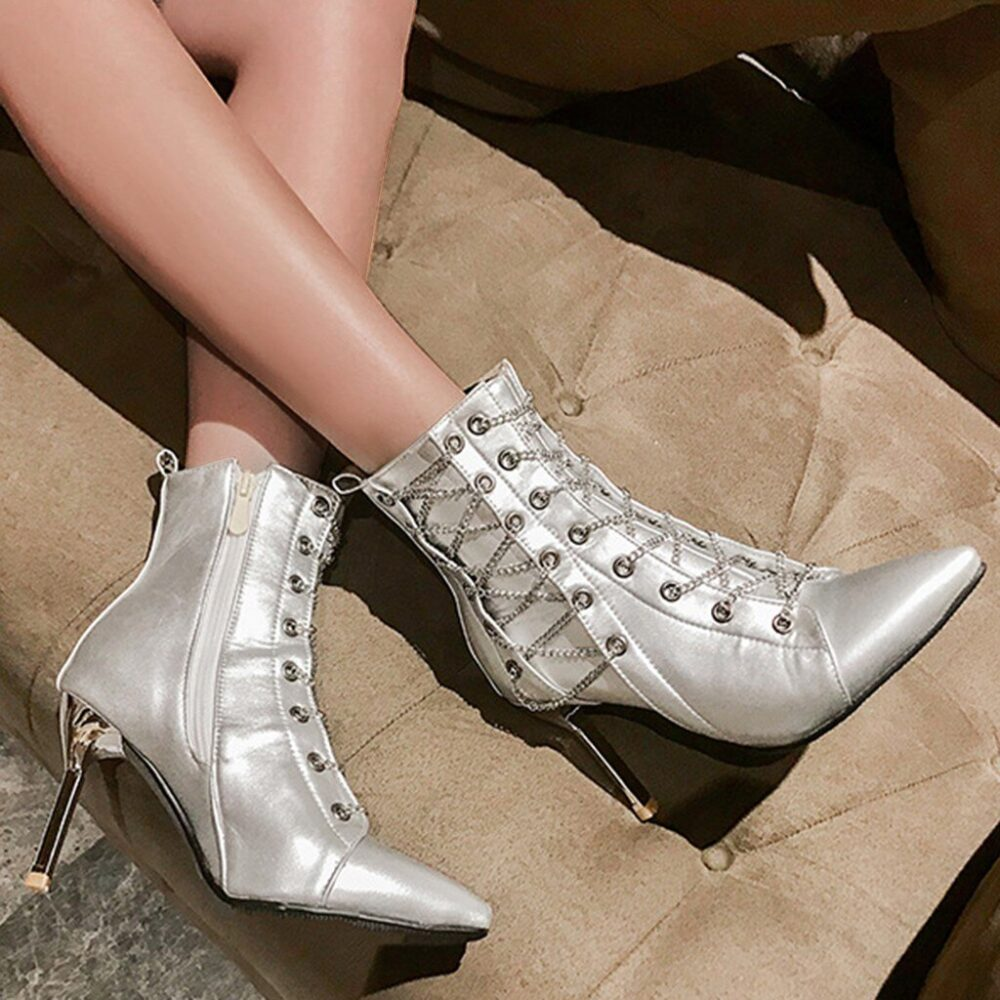 Women High Heel Stilettos Boots