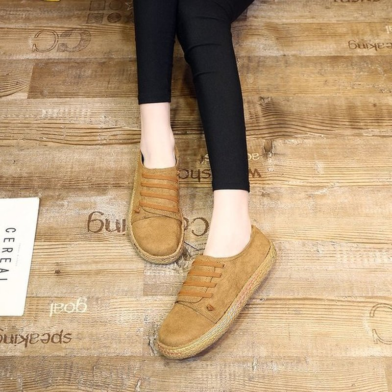Women Flat Pedal Thick-Soled Bean Shoes