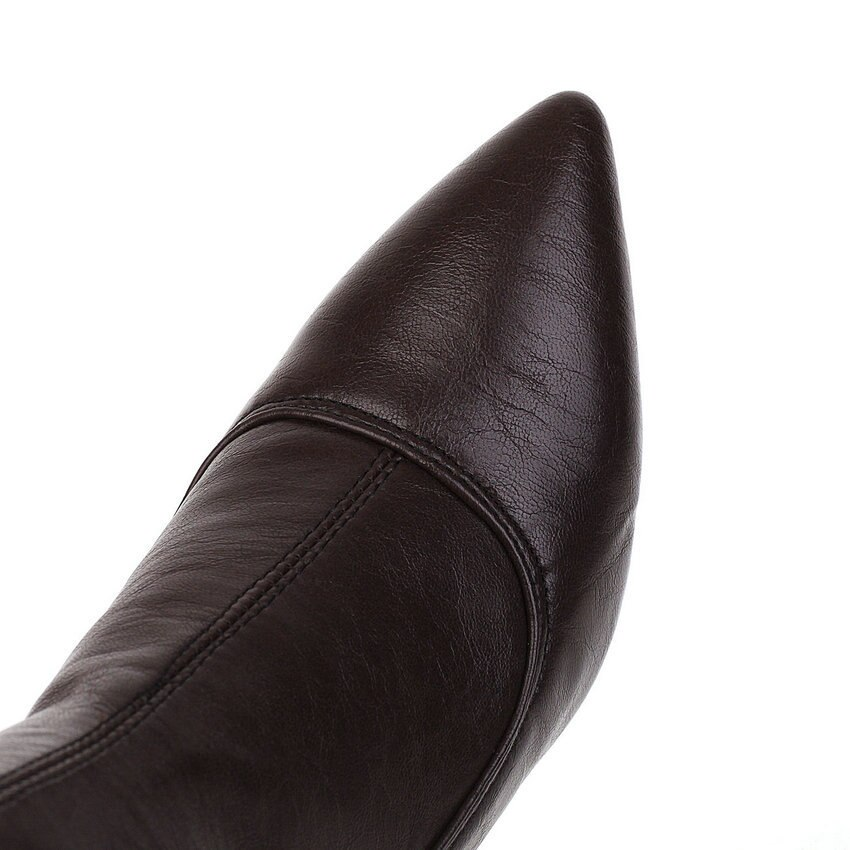 ESVEVA Women Leather Spike Heel Shoes