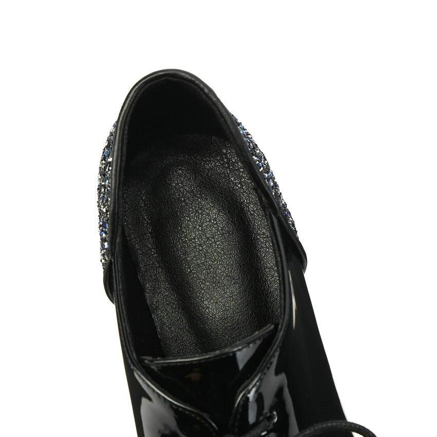 ESVEVA Women Leather High Heel Pumps