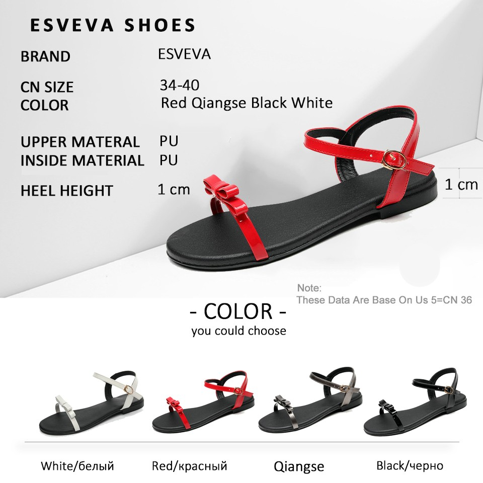ESVEVA Women Butterfly-knot Sandals