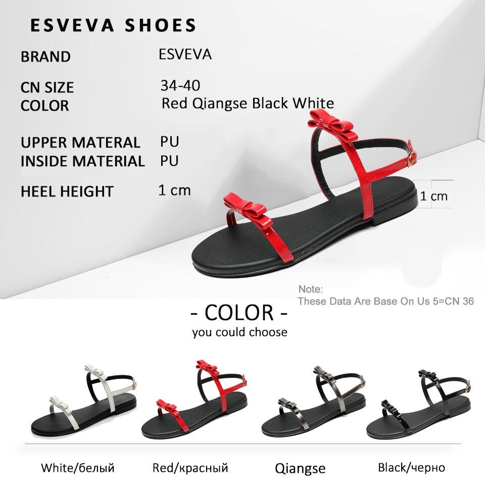 ESVEVA Women Butterfly-knot Sandals
