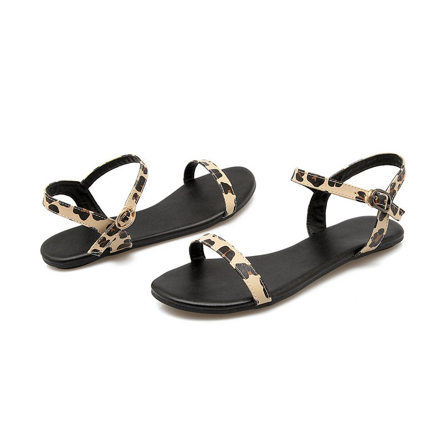 ESVEVA Women Buckle Strap Concise Sandals