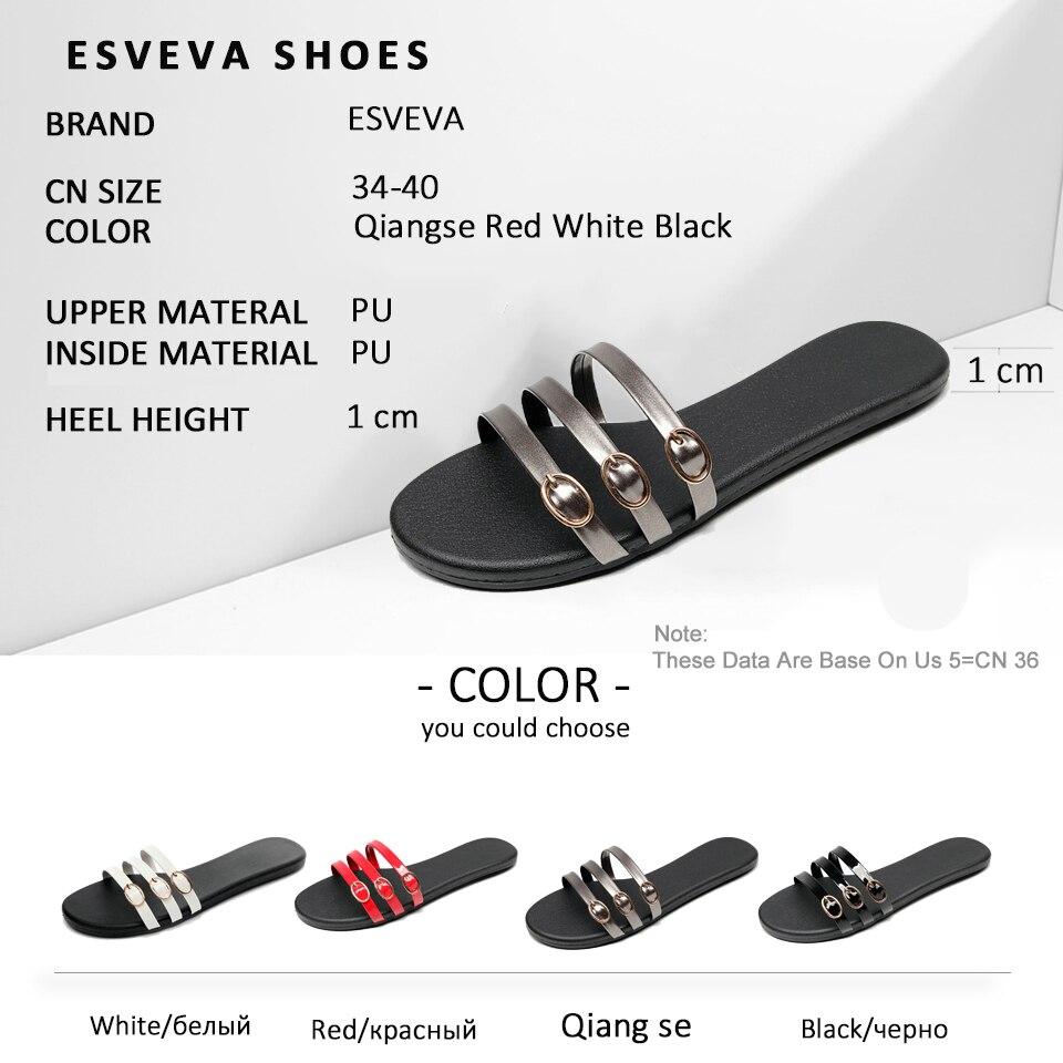 ESVEVA Women Western Style Slippers