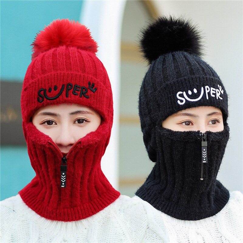 Women rabbit hair wool hat