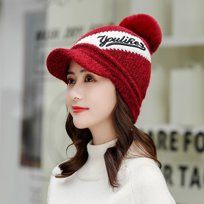 Women Jacquard Winter hat