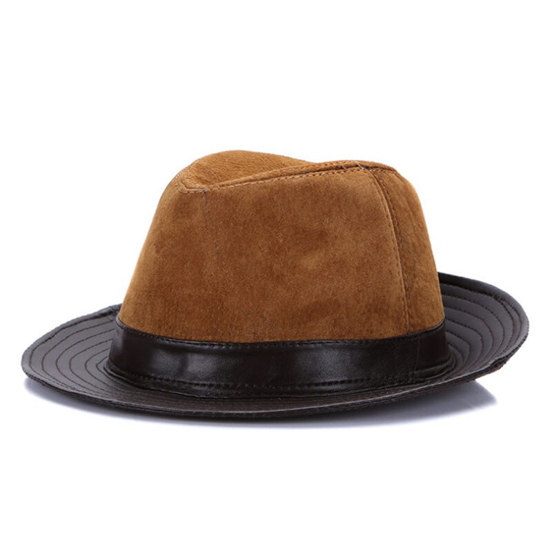 Aetrends Men Leather Jazz Cap